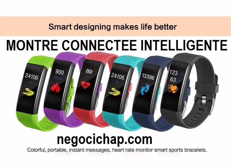 MONTRE INTELLIGENTE CONNECTÉE SPORTIVE